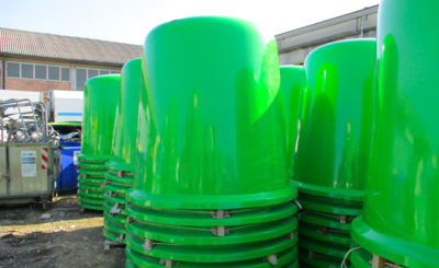 Glass Waste Big Container Collection | ASSOPLAST